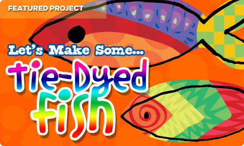 tie dyed fish - arts and craft project