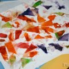 Tissue paper painting craft project